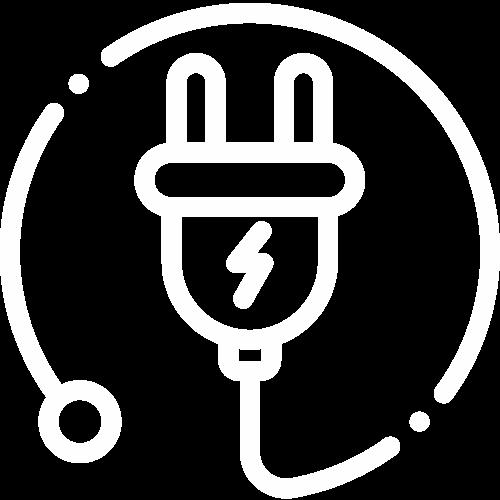 Ikona elektroinštalácie k ťažným zariadeniam